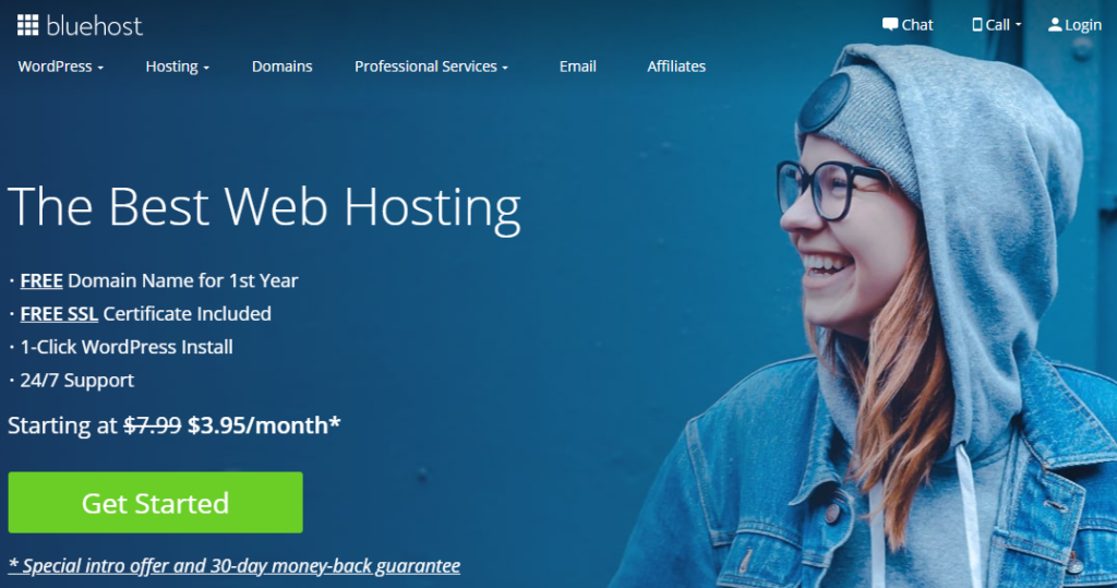 Bluehost Home Page